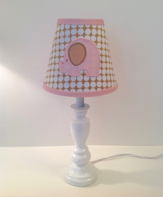 circus elephant nursery lamp shade other colors available for trim. Black Bedroom Furniture Sets. Home Design Ideas