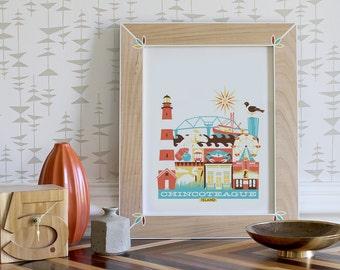 CHINCOTEAGUE print - 11x14 (color: Bright)