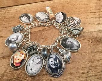 Sylvia Plath Bracelet, Sentimental Charm Bracelet, Sylvia Plath, Sylvia Plath Jewelry, Charm Bracelet, Gift for Her, Best Friend Gift