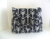 Arrow Diaper Bag - Black Arrow - Messenger Bag - Diaper Bag - Crossbody