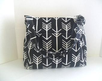 Arrow Diaper Bag - Black Arrow - Messenger Bag - Diaper Bag - Crossbody