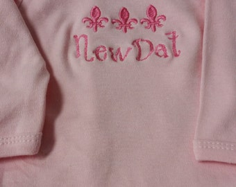 New Dat Pink Baby Layette Gown