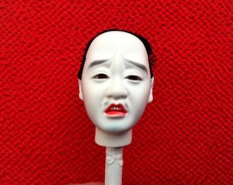 Japanese Doll Head - Hina Ningyo - Man Doll Head - Hina Matsuri - Doll Parts D11-24