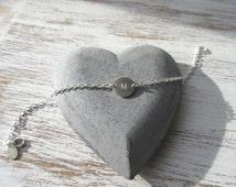 Personalised Sterling Silver Initial Bracelet - Personalised Disc Bracelet - Name Bracelet - Initial Charm Bracelet - Stacking Bracelet