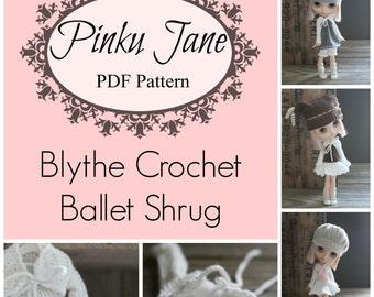 NEW - Blythe Crochet Long-Sleeved Ballet Shrug PDF Pattern