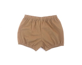 caramel cotton bloomers / shorts / diaper cover
