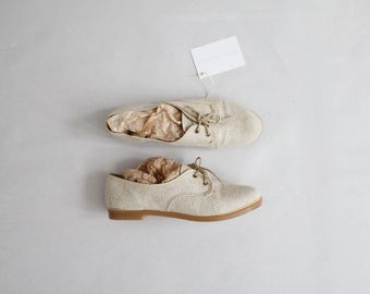 linen oxfords | womens oxfords 7.5 8 | linen shoes
