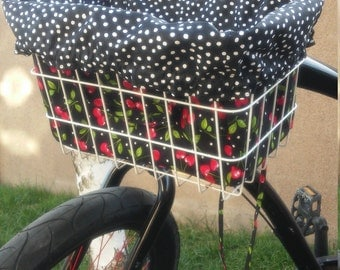 Bike Basket Liner /Tote Bag - SALE/FREE SHIPPING