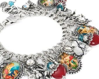 Heart Charm Bracelet, Love Charm Bracelet, Valentines Jewlery, Heart Bracelet, Love Bracelet, Valentines Charm Bracelet, Valentines Jewelry