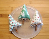 Nordic Christmas Trees Bowl Filler Ornaments Holiday Decorations