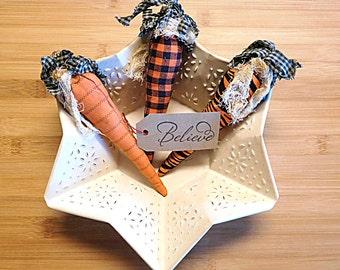 Primitive Easter Carrot Bowl Filler Decorations