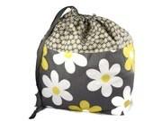 Large Knitting Bag, Knitting Project Bag, Flower Knitting Bag, Crochet Bag