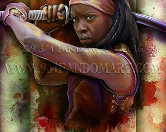 Art Retirement SALE / Michonne / The Walking Dead / TWD / 8x10 Print