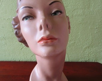 Mannequin Head Perky Nose Classic Female Beauty Store Display Hats