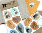 Waterproof Birds of Prey Stickers--2 Sheets