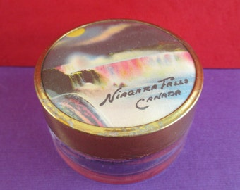 Vintage Souvenir Niagara Falls Cream Jar