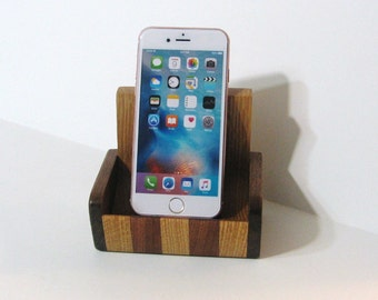 Cell Phone Sofa / Desk organizer For Home Or Office Made Of Three Woods