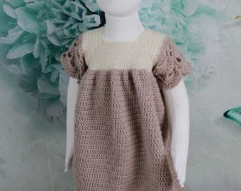 CROCHET PATTERN For Girls Summer Dress in 3 Sizes, Toddler/Child, 2-7 years,  U.K, U.S.A  PDF 349 Digital Download