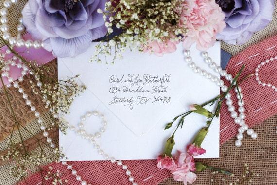 Self Inking Return address stamp custom address labels with a script font --2294