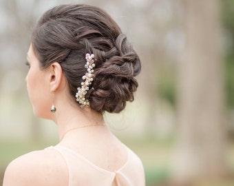 Wedding Comb Swarovski Crystals and Pearls
