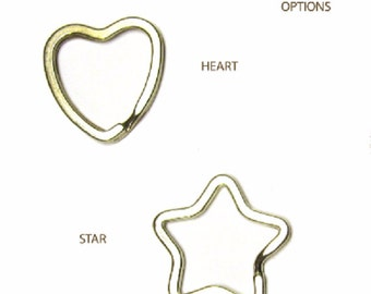 Heart or Star Key Ring Add-on
