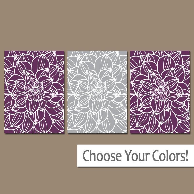 purple gray wall art canvas or prints purple bathroom. Black Bedroom Furniture Sets. Home Design Ideas