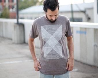 The Palindromes Tshirt // mens graphic tee // geometric tshirt // modern minimalist print // BROWN t shirt // gift for him by blackbirdtees