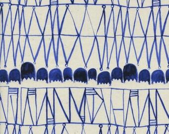 Cotton + Steel Bluebird Tulips  100% Cotton Fabric