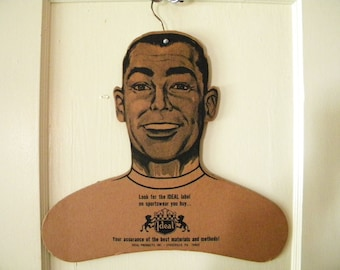 Vintage Advertising Hanger for Men's Sportswear Ideal Clothing Company