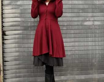 Valora Dress Coat ~ Organic Bamboo Fleece ~ Made to Order