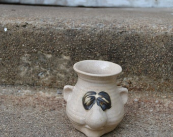 Vintage Peter Petrie Pottery Face Snot a Mug Egg Separator