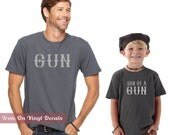 Father and Son Matching Shirt Vinyl Decals, Gifts For Dad, New Dad Gift, New Baby Gift, Son Of A Gun Onesie, Mens Tshirt, Mens Gifts