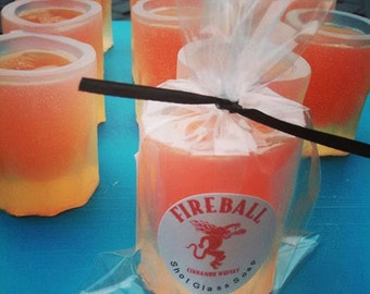 Mens Gift. College Student Gift. SHOT GLASS Soap, Novelty Gift, Fireball, Father, Dad, Party Favors, Bar Prank, Gag Gift, Shots, for Him