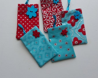 Gift card bags - set of 5