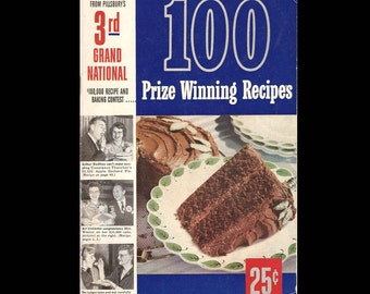 100 Prize Winning Recipes from Pillsbury's 3rd Grand National - Vintage Recipe Book c. 1952