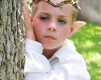 Children's crown, Elven, Woodland Crown, Greenman, Harvest, Renaissance, Costume, LOTR