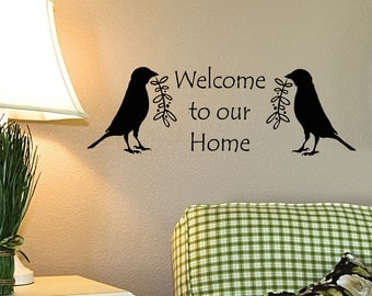 Welcome Wall Decor primitive wall decor   etsy