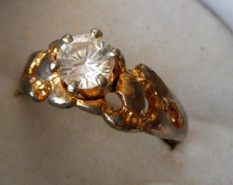 Faux Diamond & Metal COSTUME JEWELRY Ring