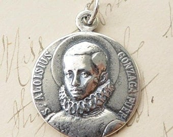 St Aloysius Gonzaga Medal - Patron of teenagers, Jesuit students and AIDs patients