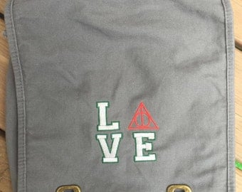 Harry Potter Inspired Messenger Bag - Slytherin Love