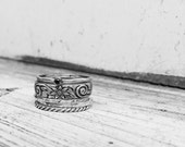 Sterling Silver Stacking Rings With Birthstone