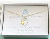 Miscarriage Necklace • Heart with Tiny Heart Necklace • Infant Loss • Sympathy Gift • Lost Child • Bereavement Gift • In Memory Of