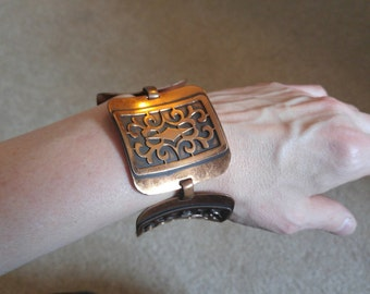 1960's Unique Copper Chunky Bracelet