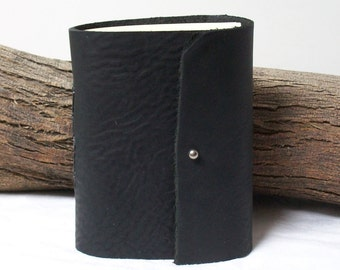 5 Signature Rugged Black Leather Journal, Planner, Diary, Writing, Travel 6 X 5