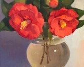 """Art painting flowers floral still life """"Fleeting Blooms"""" orignial oil on canvas by Sarah Sedwick"""