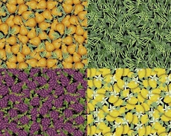 Vegetables Fruit Locally Grown Windham Fabric 1 yard