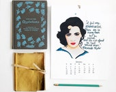 Fierce Women 2017 Watercolor Illustration calendar