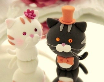 cat and  kitty Wedding Cake Topper---k844