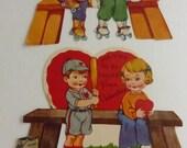 Vintage  1930s 1940s Children's A-Meri-Card Valentines V1059