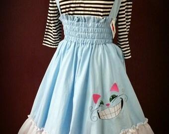 SAMPLE Alice in Wonderland Dress - Costume Lolita Jumper Fairytale - Cheshire Cat - SAMPLE medium